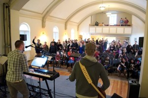 Reality Vancouver now worships in the traditional sanctuary of a Mainline church building.