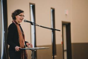 CMU president Cheryl Pauls couldn't get any students to do a church visit with her because they were all committed to serving in their local congregations.