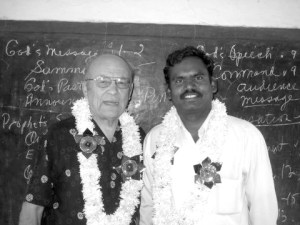 B I Premaiah (r) and Elmer Martens in India