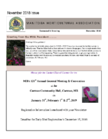 MHA Newsletter – November 2018 Issue