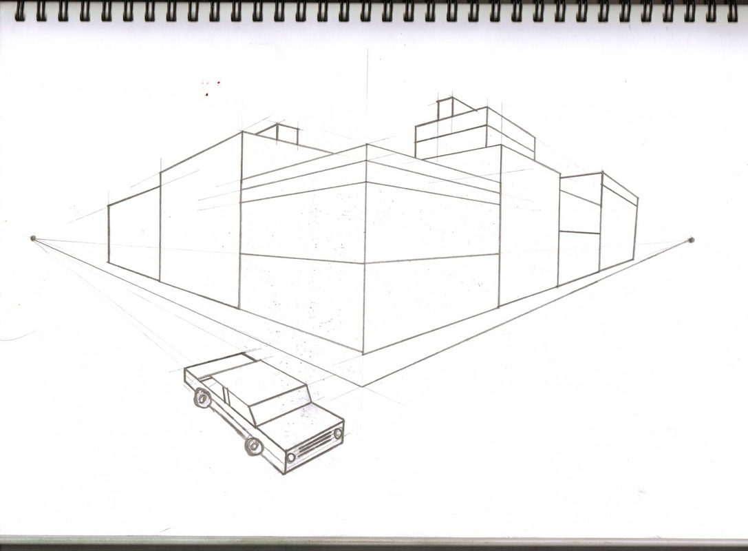 1 And 2 Point Perspective Worksheet