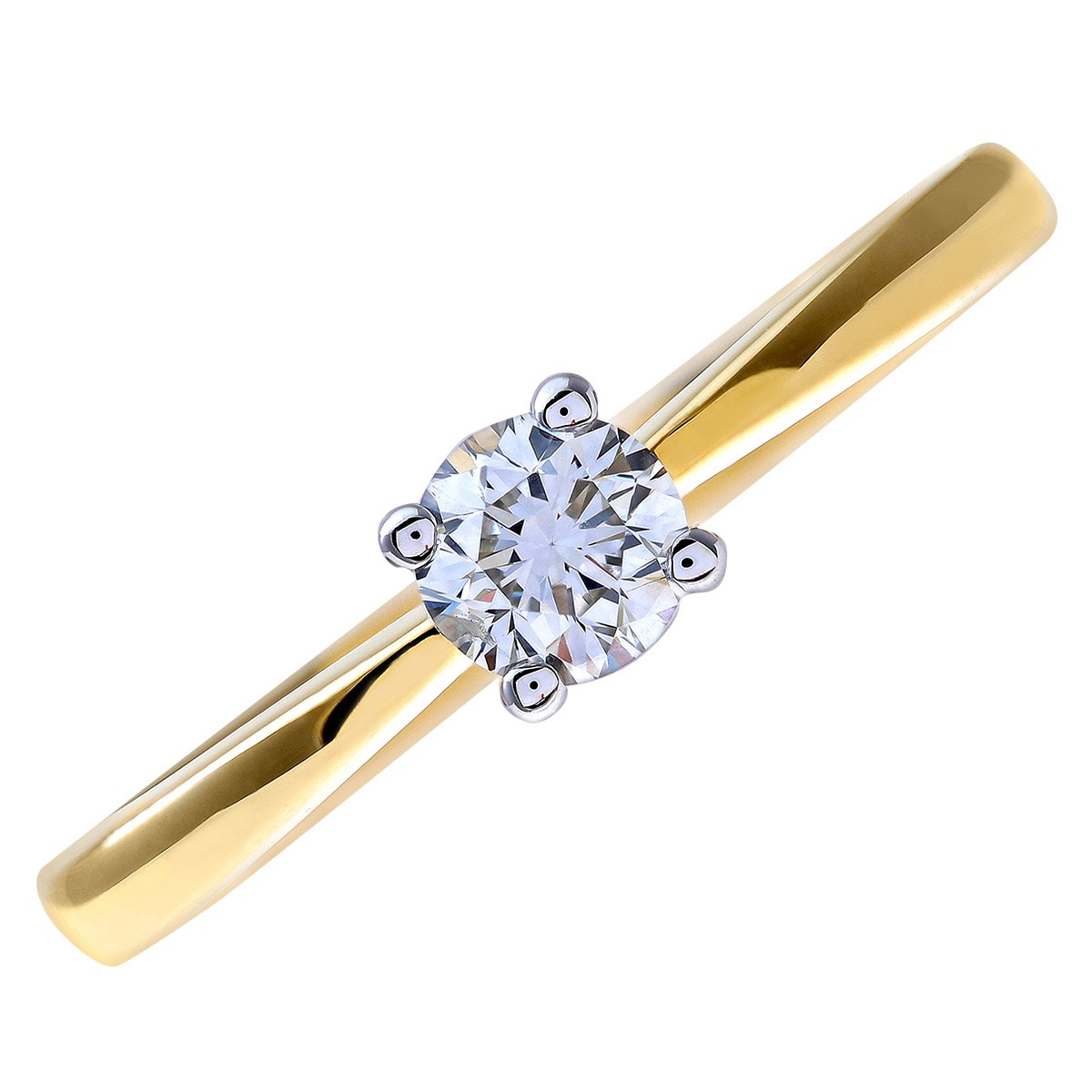 18CT YELLOW GOLD 0.33CT DIAMOND SOLITAIRE RING