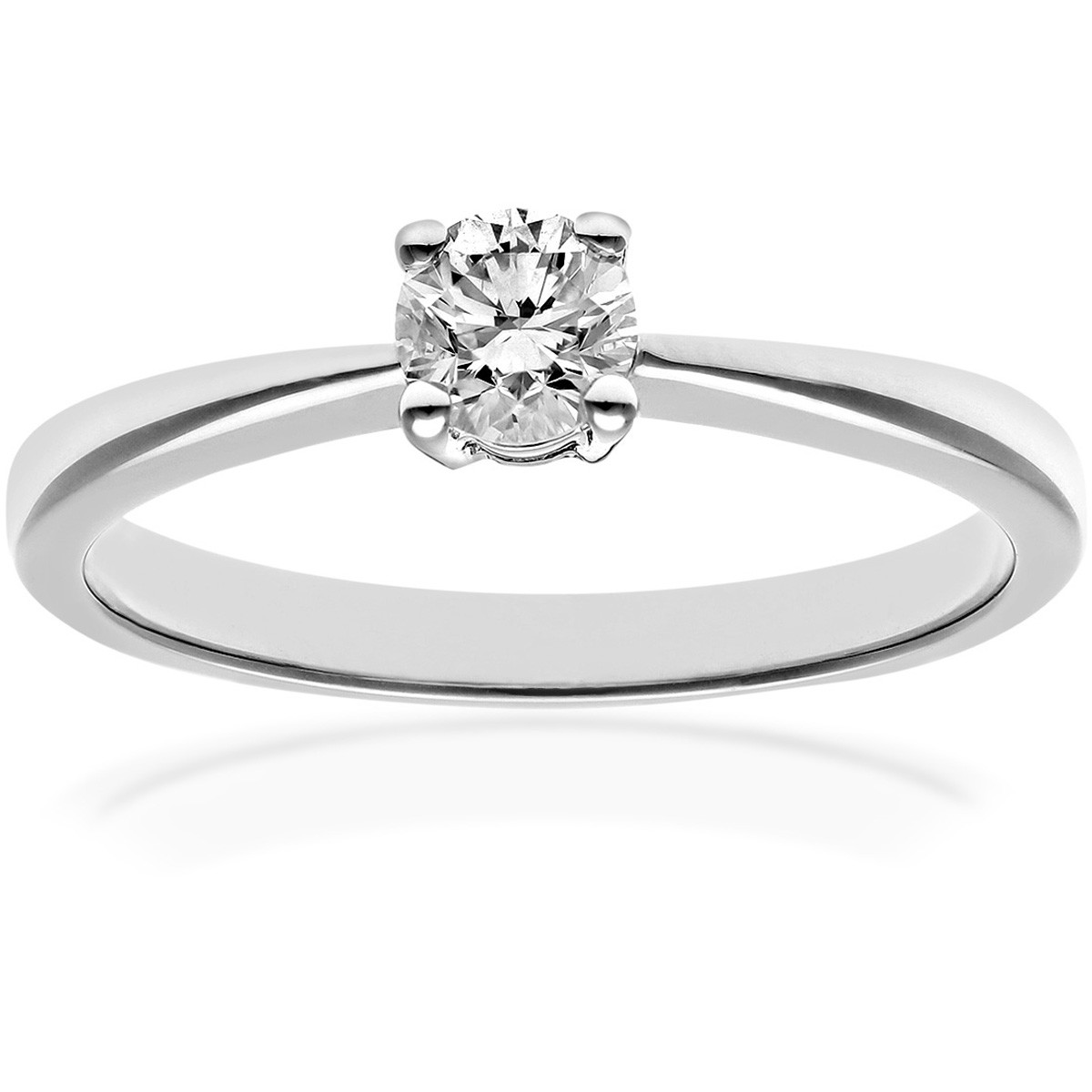 18CT WHITE GOLD 0.33CT DIAMOND SOLITAIRE RING