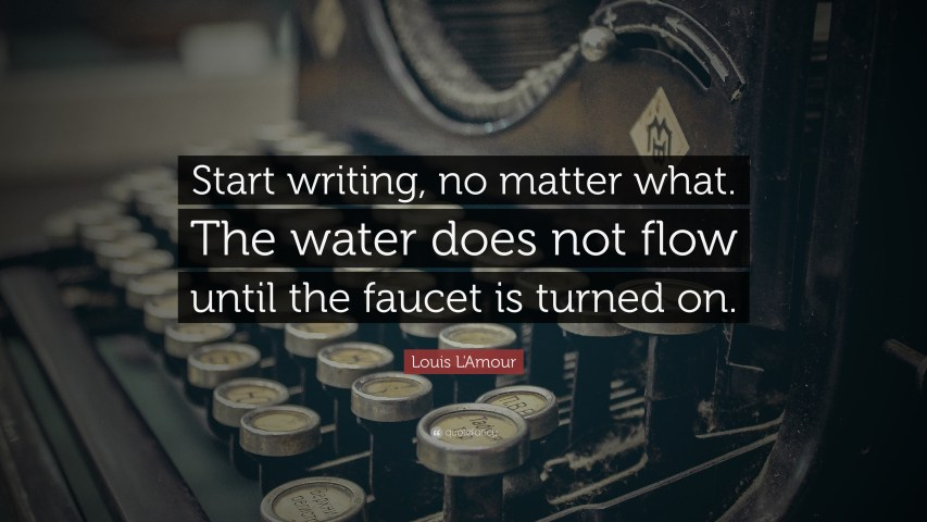 Motivational Writing quote