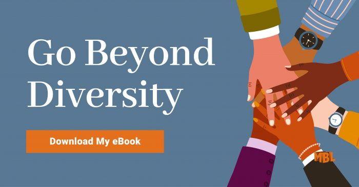 Go Beyond Diversity: Download My eBook | art: holding hands, demonstrating diversity and inclusion