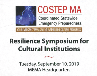 COSTEP MA Resilience Symposium for Cultural Institutions logo