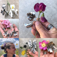 Nicole Ringold collage of instagram photos of her nature inspired jewelry