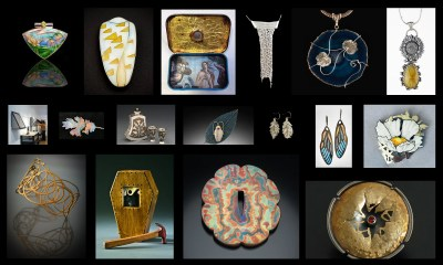 Image collage of pendants, vessels, brooches, bracelets, necklaces and earrings