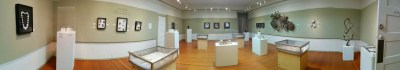 Panorama of the Small Wonders exhibition at the Pacific Grove Art Center Gallery in 2014