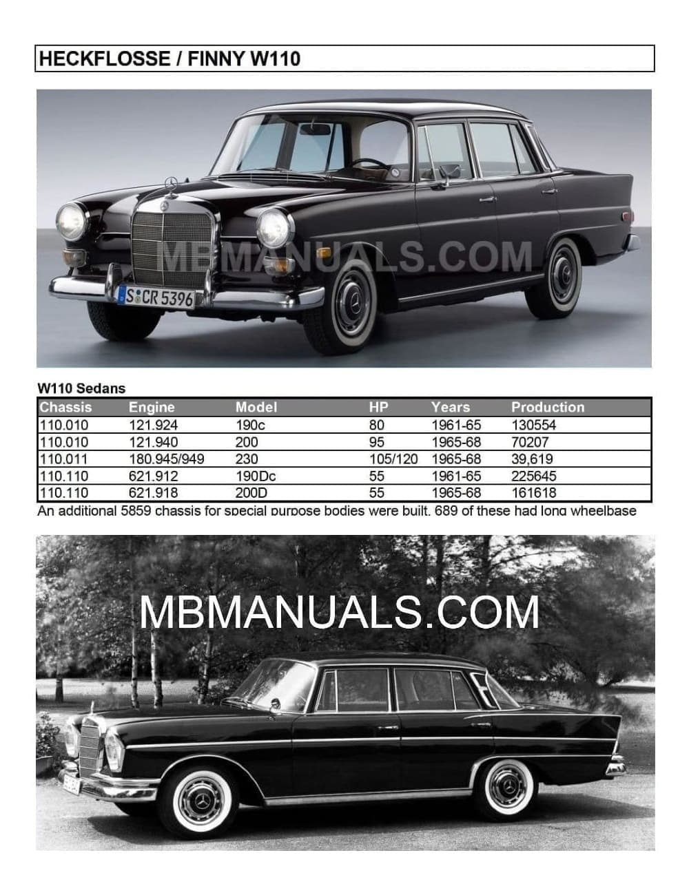 hight resolution of mercedes benz w110 workshop repair manuals