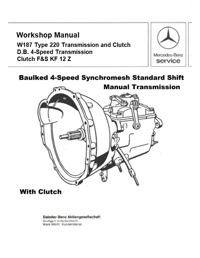 Mercedes Benz 187 W187 Service Repair Manuals