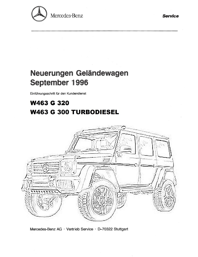 Mercedes Benz 463 W463 Service Repair Manual pdf