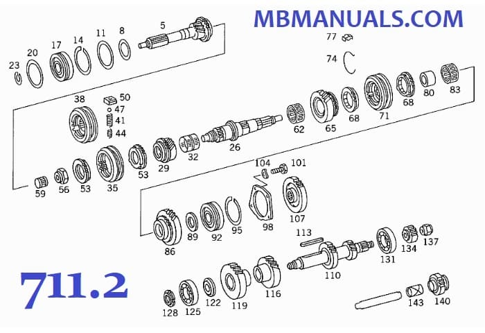 Mercedes Benz 711 G 1/17-4 Gearbox Manual Transmission Manuals