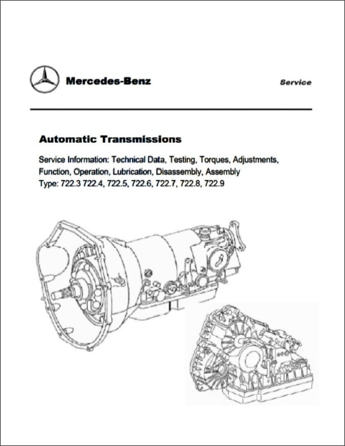 Mercedes Benz 722.8 Automatic Transmission Service Manuals