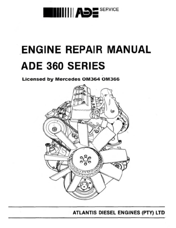 Mercedes Benz OM364 Diesel Engine Service Repair Manual .pdf