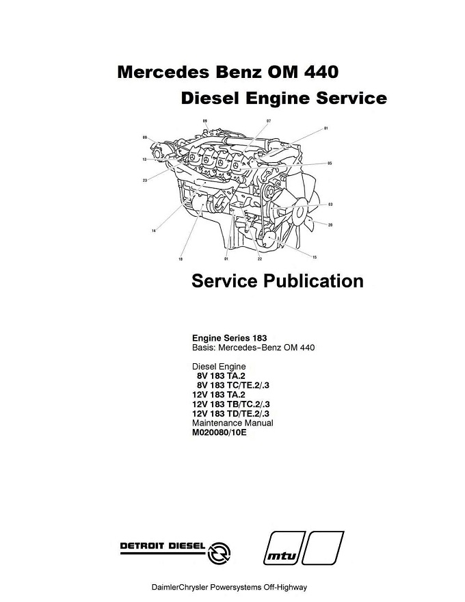 Mercedes Benz OM440 Engine Service Repair Manual .pdf