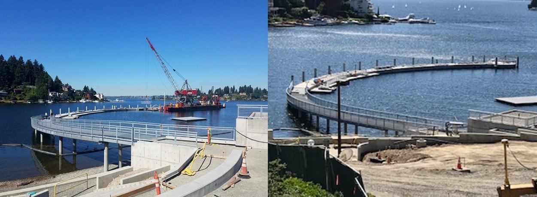 Progress on the Waterfront Park - Meydenbauer Bay Neighbors Association