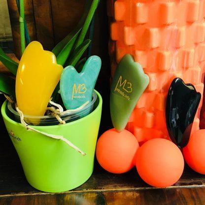 Triggerpallo, jumipallo, faskiapallo, gua sha kampa, Gua sha krapa tai faskiakampa sekä tuplapallo
