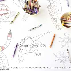 personalized reptile coloring tablecloth