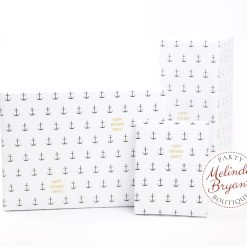 Personalized nautical anchor wrapping paper
