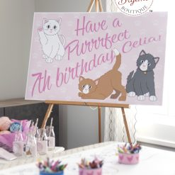 kitty cat party poster