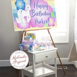 Personalized unicorn party poster