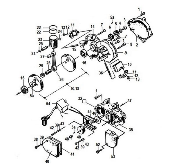 Motorized Bicycle Engine Diagram. Engine. Auto Parts