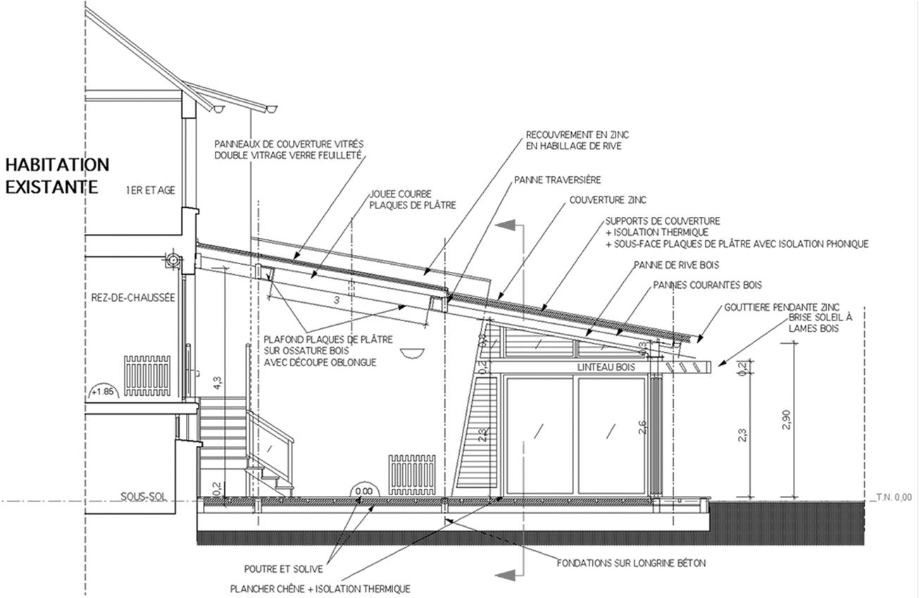 coupe transversale atelier architecture bricet. Black Bedroom Furniture Sets. Home Design Ideas