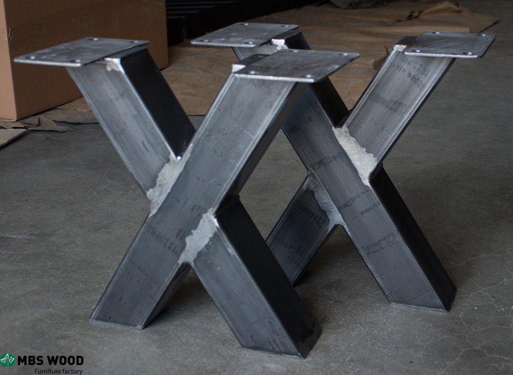 Kleine stalen salontafel poten  MBS Wood