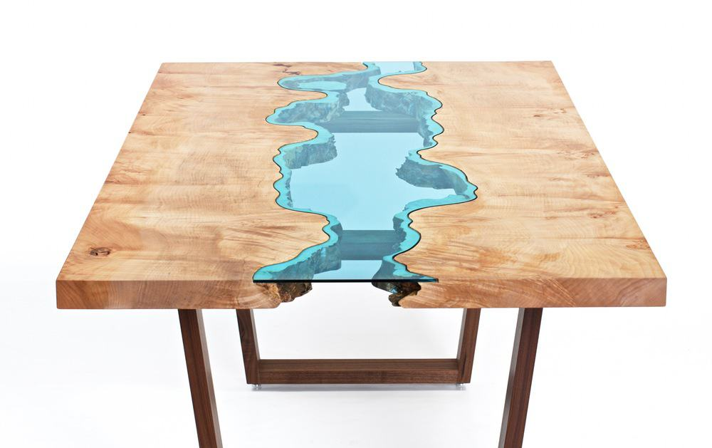 blue epoxy table