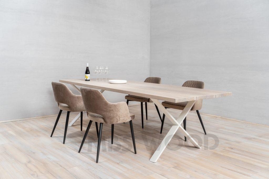 oak tabletops covered white oil