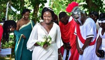 Linda Ndagire at her wedding | PHOTO by Nicholas Bamulanzeki