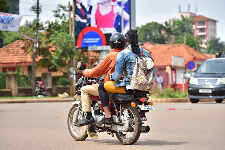 Boda boda rider (Photo by Nicholas Bamulanzeki)