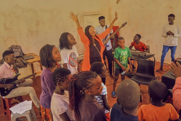 Spice Diana Fellowships With vulnerable kids At Kampala Children's Center. 8