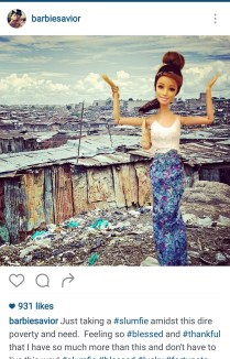 Haha slumfie, really Barbie? :-)