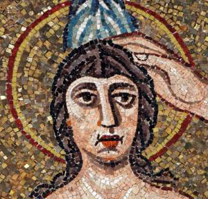 """Baptism of Christ"" detail, Ravenna Baptistry."