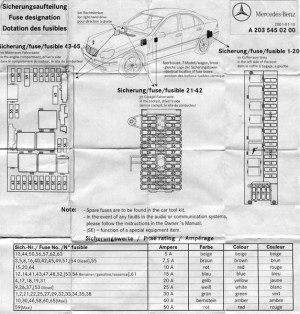 2002 C230k electrical disaster  Front & rear SAM designation  Pin Outs  d2b & MOST  MBWorld