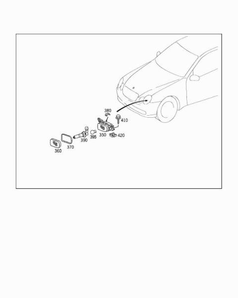 2005 C230 Kompressor Sport Sedan Fog Light Wiring Harness