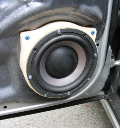 stock speakers 2006 c230 sport front c240 w spacer  [ 1600 x 1200 Pixel ]