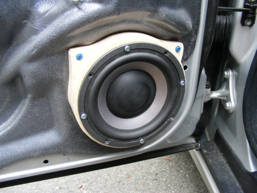 small resolution of stock speakers 2006 c230 sport front c240 w spacer