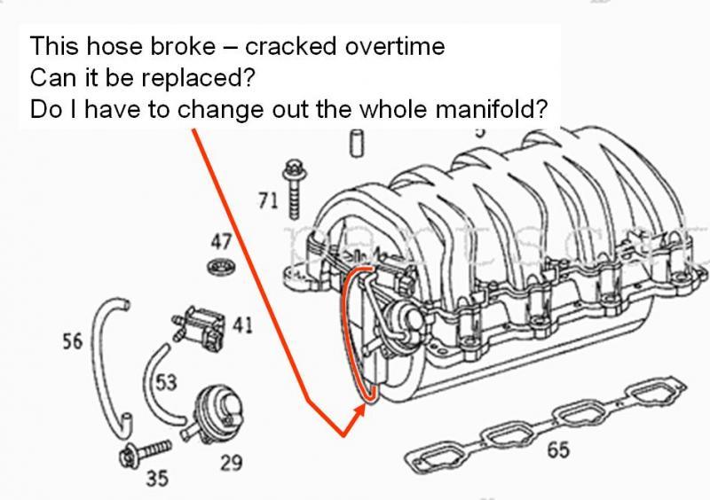 Mercedes 1997 C280 Intake Manifold Diagram, Mercedes, Free