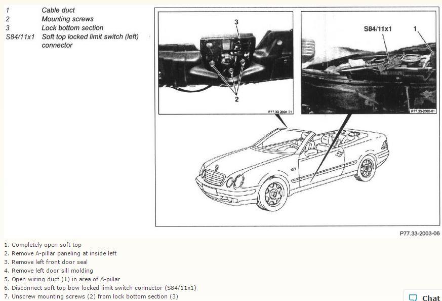 Mercedes Clk Convertible Roof Manual Operation Mercedes