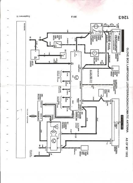 mercedes e320 w124 wiring loom