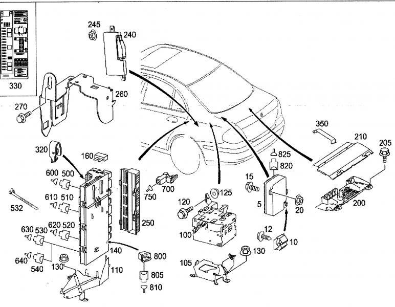 mercedes glc 300 fuse box diagram