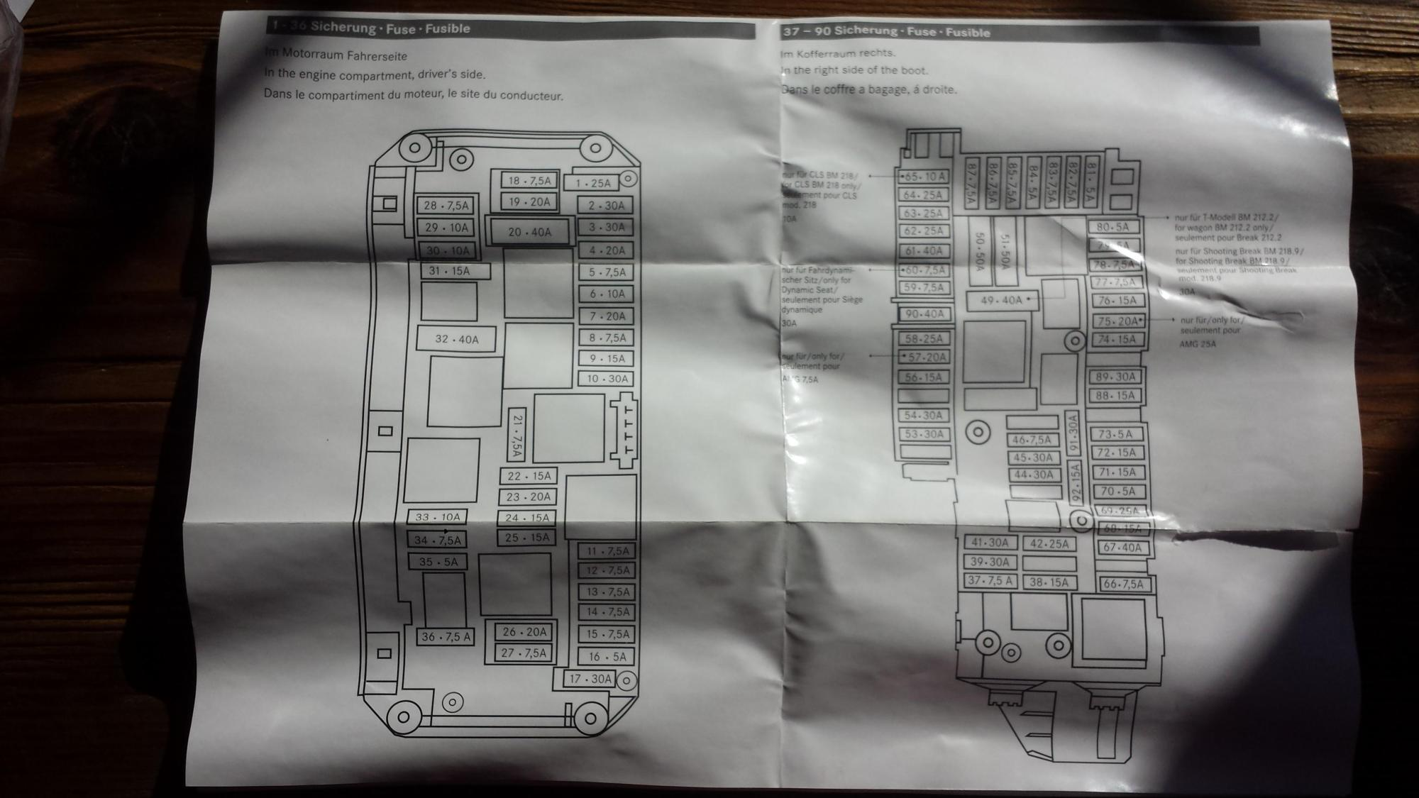 hight resolution of 2013 w212 e350 eclass fuse panel diagram chart mbworld org forums rh mbworld org 2004 ford