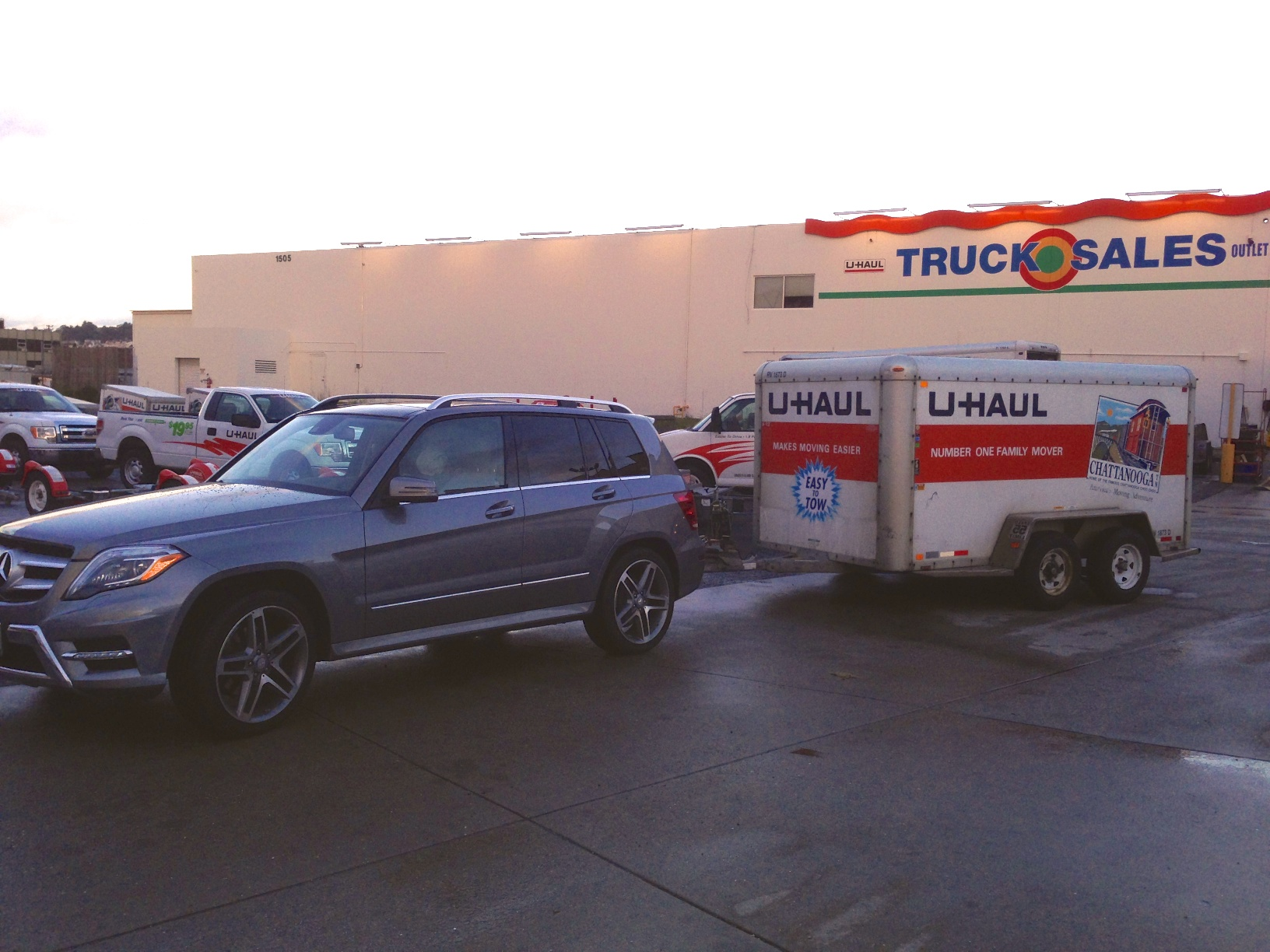 hight resolution of towing a uhaul trailer with original mercedes hitch page 2