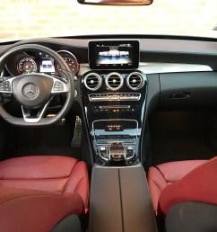 lease take over 2015 mercedes benz c300 white on red interior la area  [ 2016 x 1512 Pixel ]