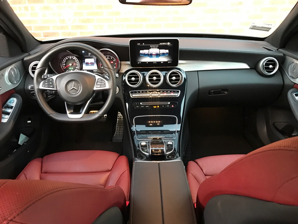 medium resolution of  lease take over 2015 mercedes benz c300 white on red interior la area