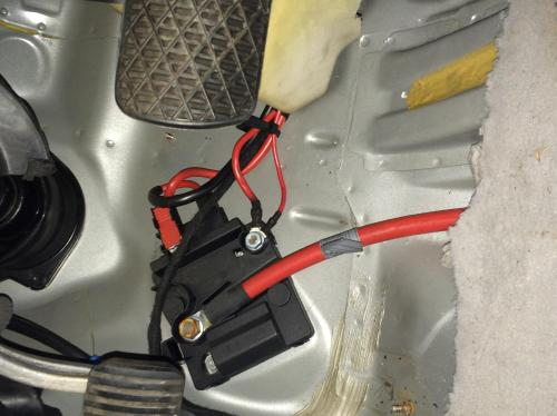 small resolution of passenger footwell dead battery image jpg