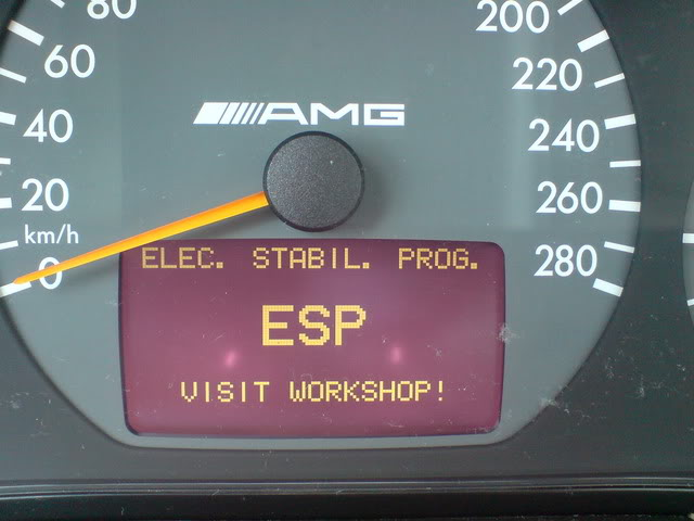 Esp fault see owners manual